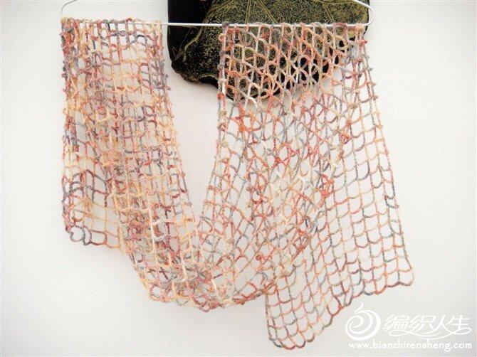 钩针方格围巾