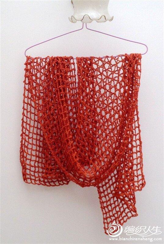 女士围巾编织教程之超简单的钩针围巾织法教程