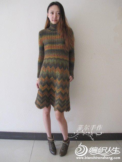 时尚简约棒针连衣裙