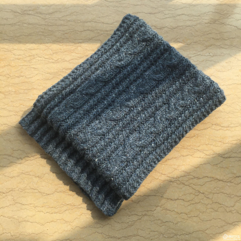 粗花呢棒针围巾