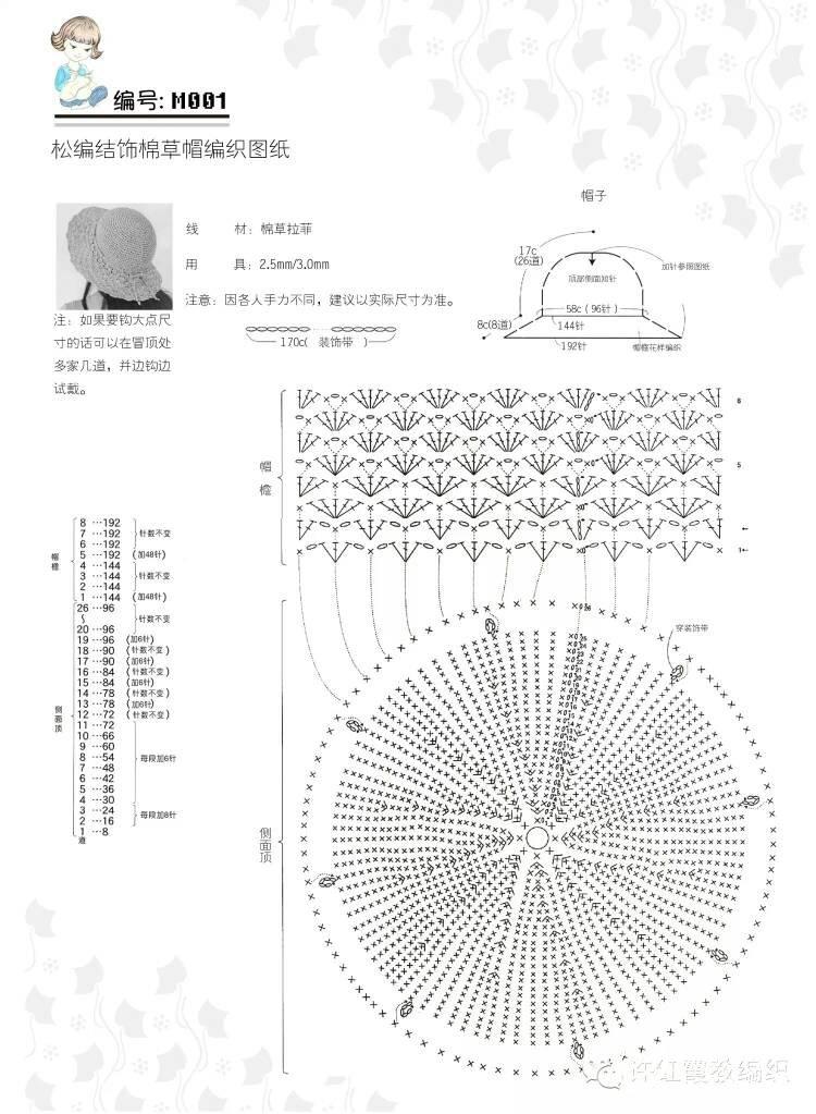 [帽子] 用棉草钩的第一顶草帽 - yn595959 - yn595959 彦妮