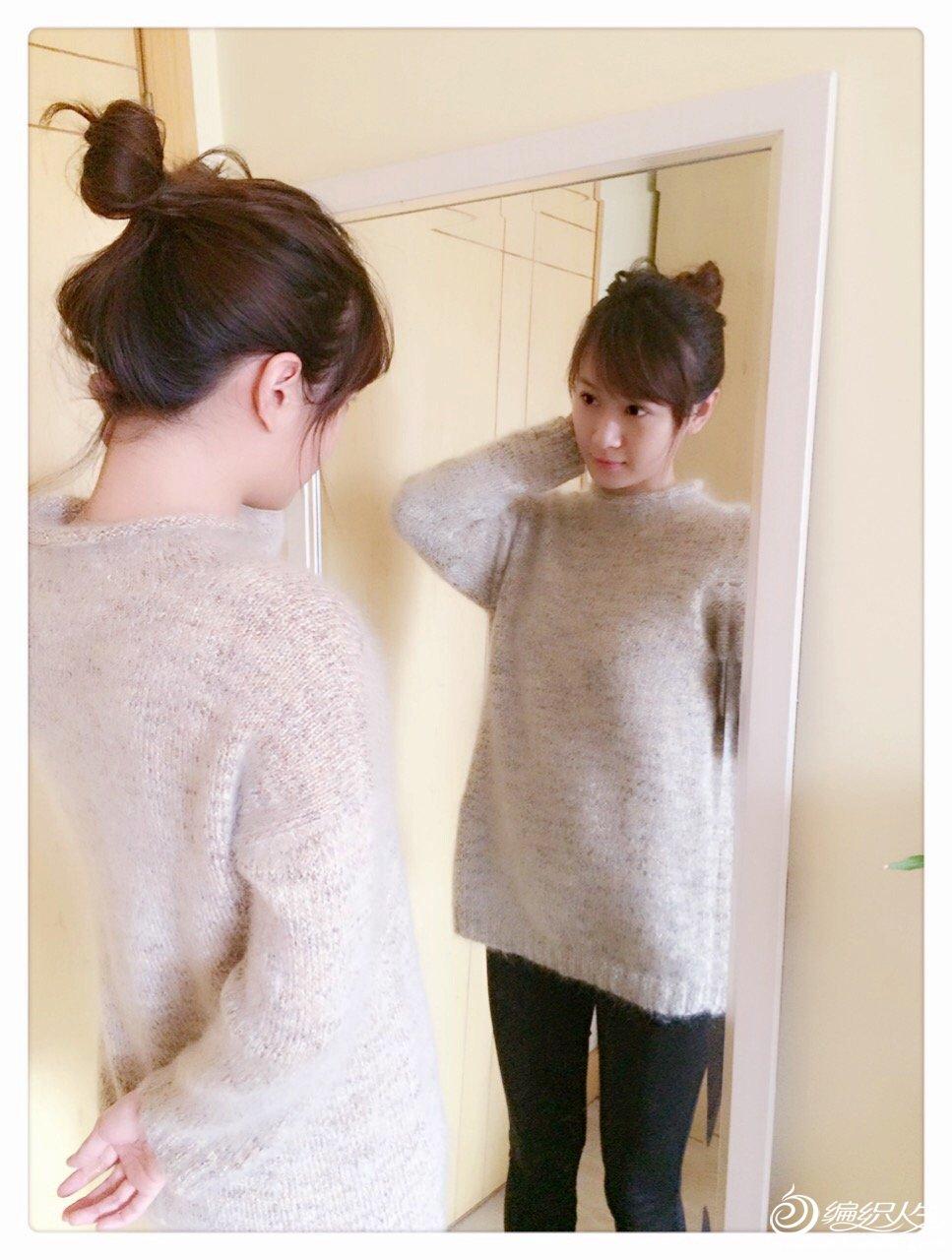 少女棒针毛衣