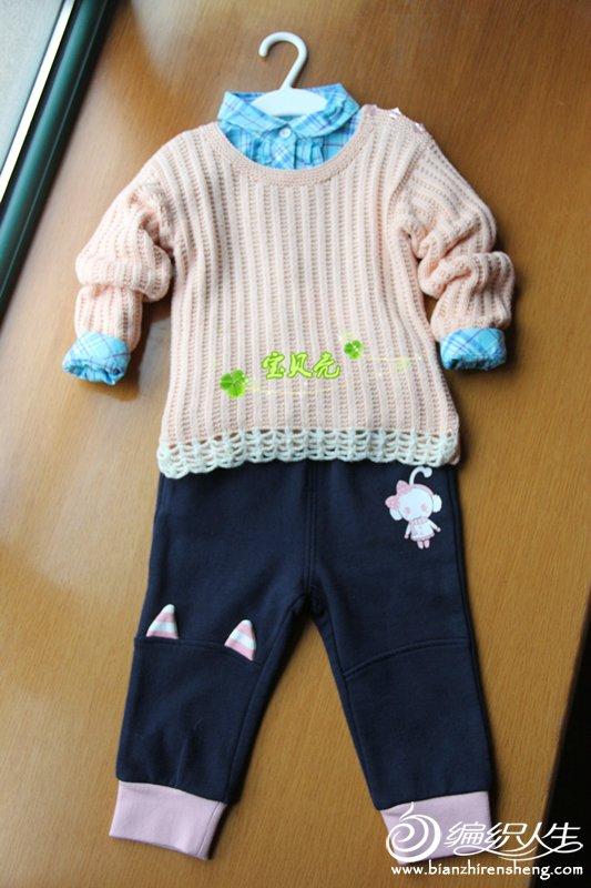 新款宝宝肩开扣毛衣