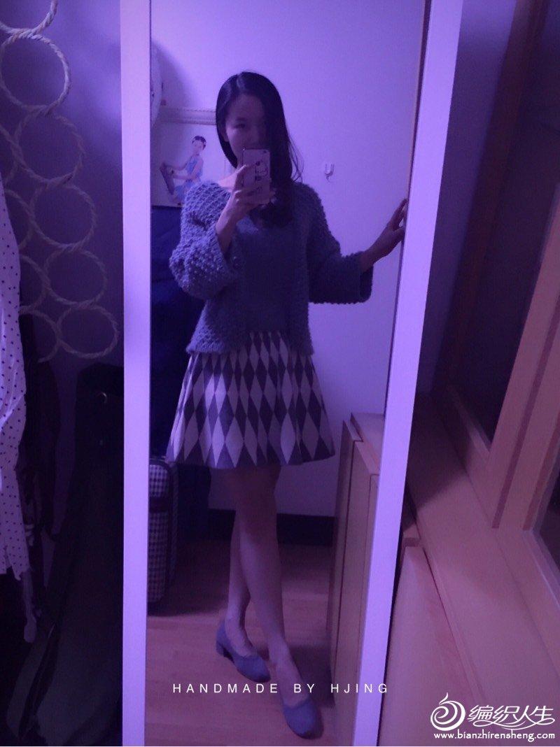 时尚女士棒针毛衣