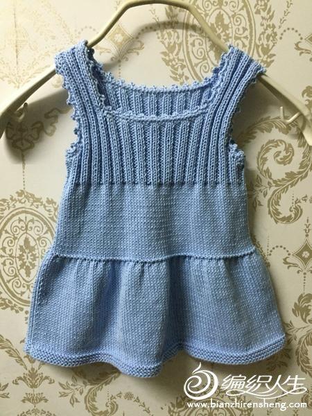 80-100cm宝宝毛线编织套裙之棒针背心裙及钩针外搭小开衫