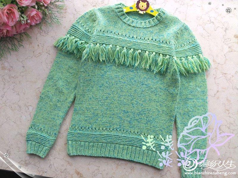 女童流苏毛衣