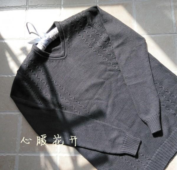 [男式毛衣] 【心暖花开】(2016-5)精彩--精致男式V领 - yn595959 - yn595959 彦妮