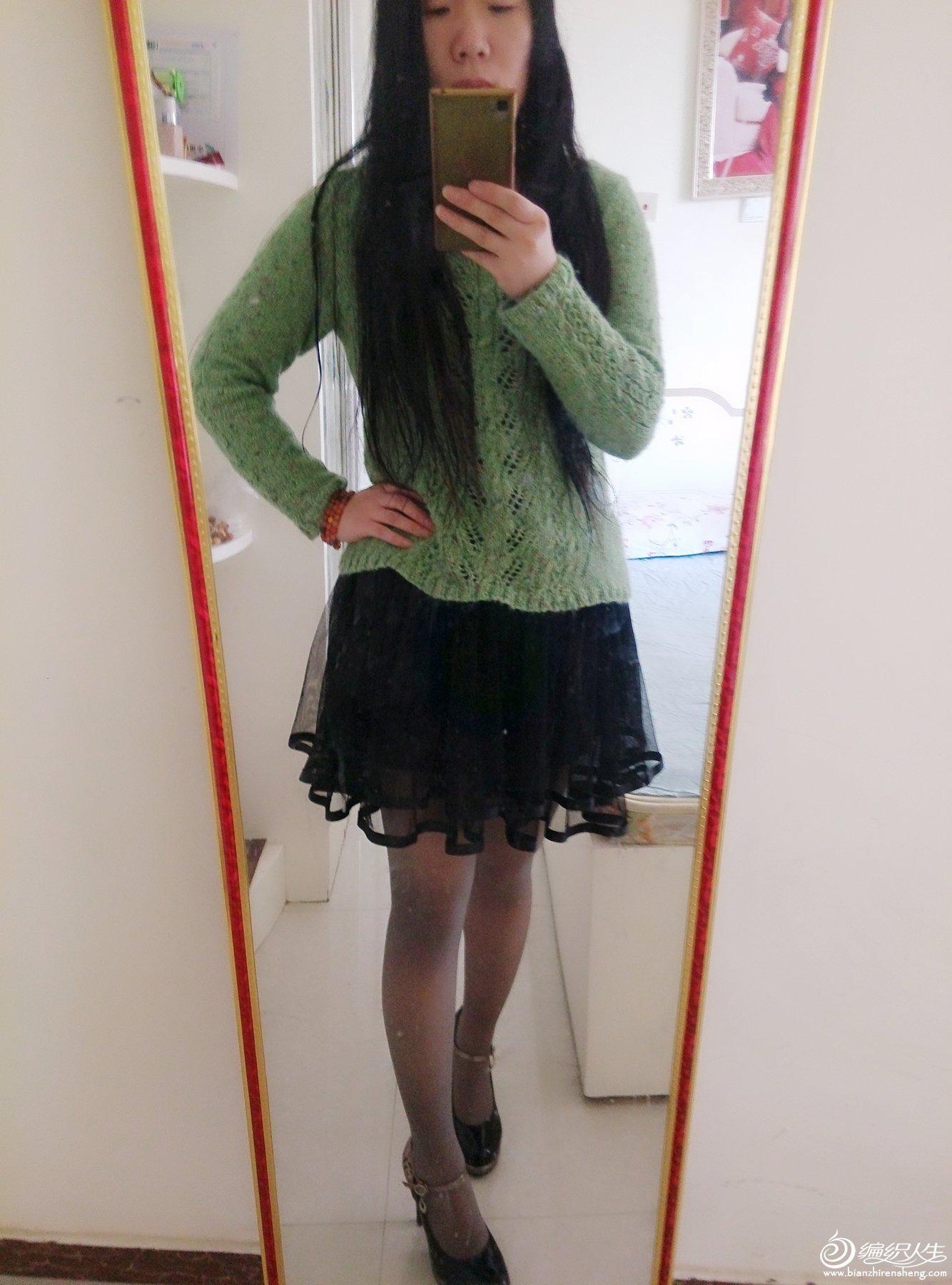 女士春秋圆领毛衣