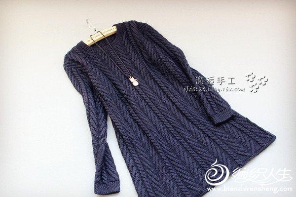 长袖毛线连衣裙