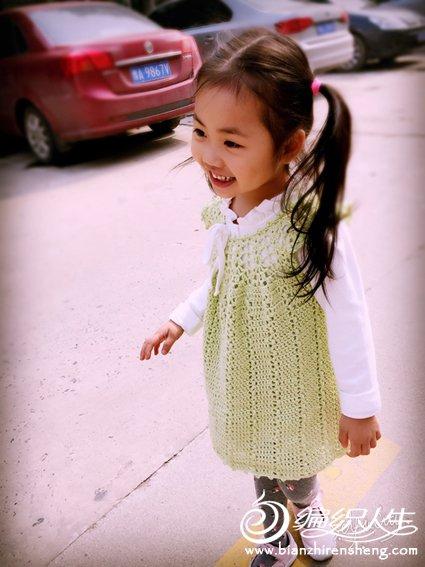 女童钩针背心裙
