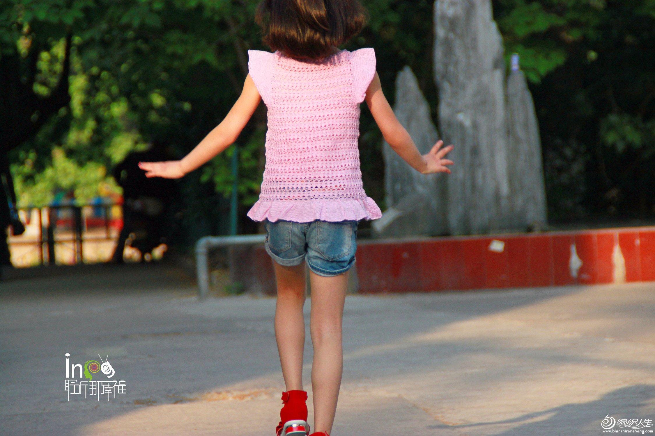 女孩夏季织衣