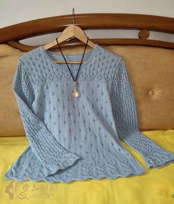 棉麻棒针毛衣