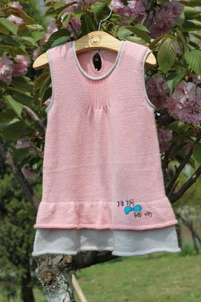转【梧桐细雨】(视频教程)双色宝宝背心裙----甜梦 - 罗兰 - 手工坊花园