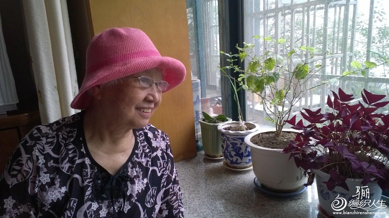 女士钩针遮阳帽