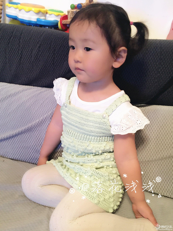 儿童钩针背带裙