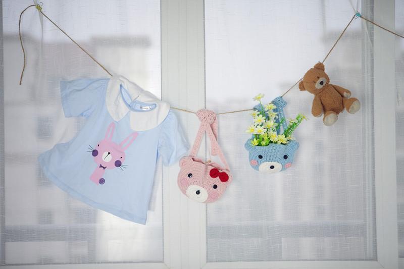 可爱宝宝钩针小熊挎包(2-1)零基础编织视频教程