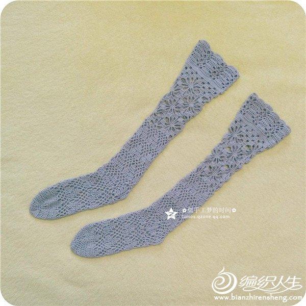 女士钩针长袜