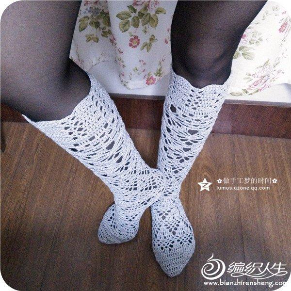 钩针蕾丝袜