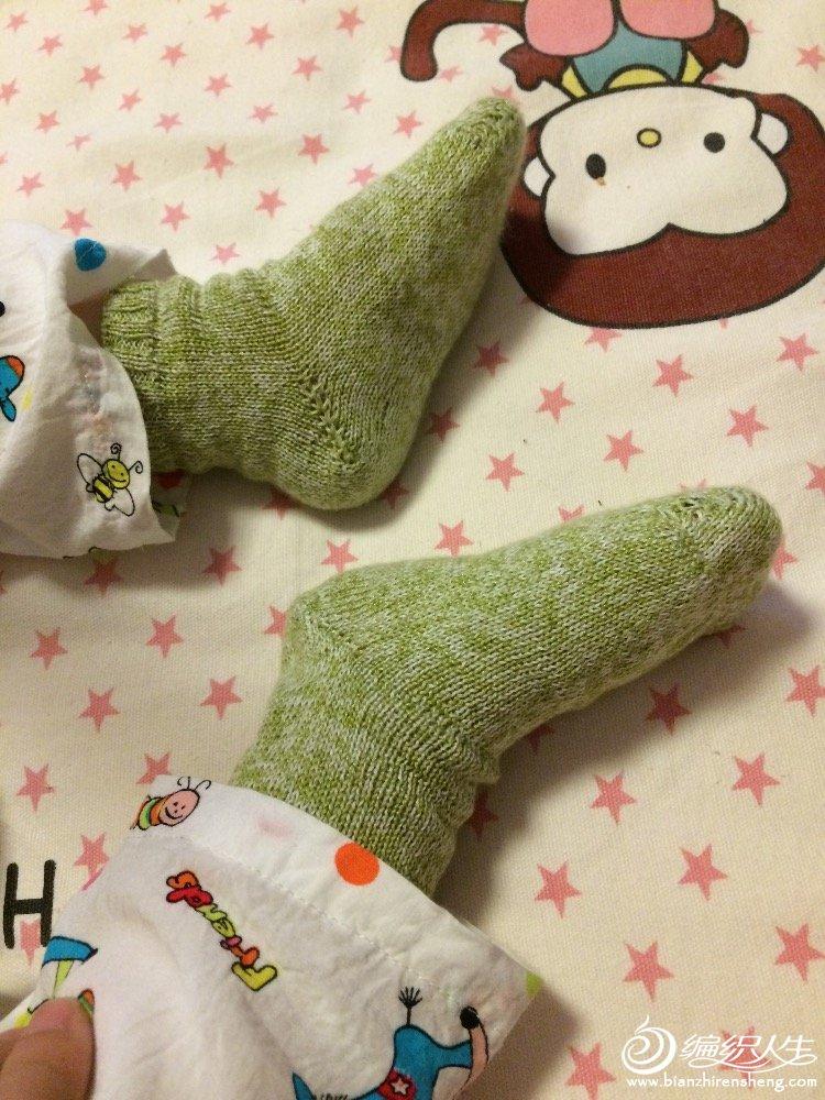 棒针宝宝袜