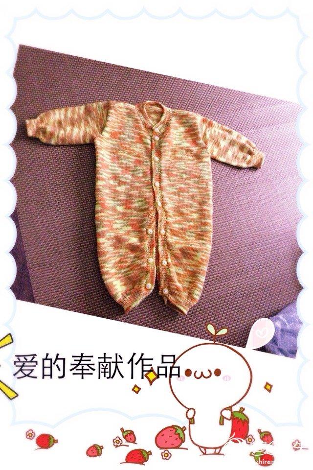 超详细的手工编织教程教你织婴儿棒针开襟开裆系扣连体裤图片