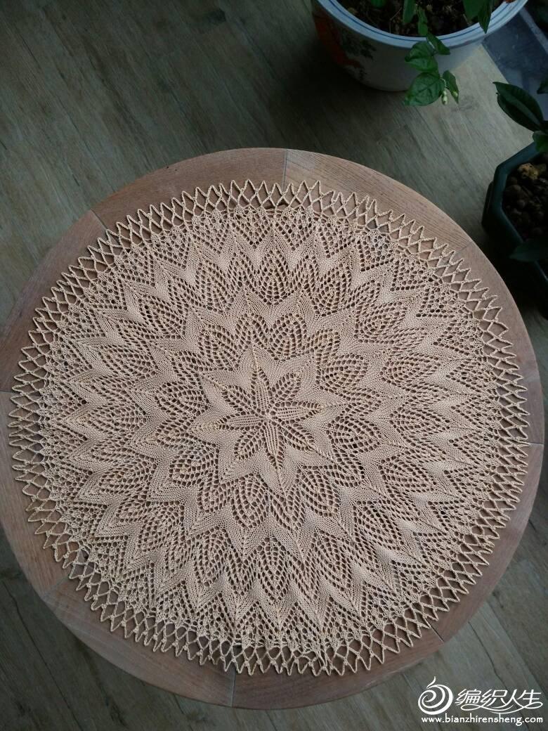 棒针蕾丝桌布