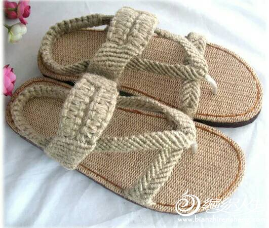 手工编织凉鞋图片