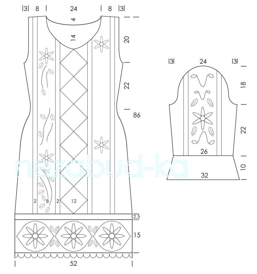 旗袍设计平面图