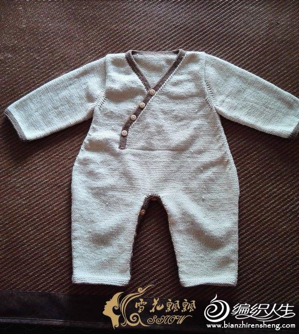 棒针宝宝连体衣