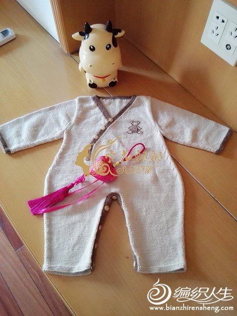 棒针婴儿连体衣