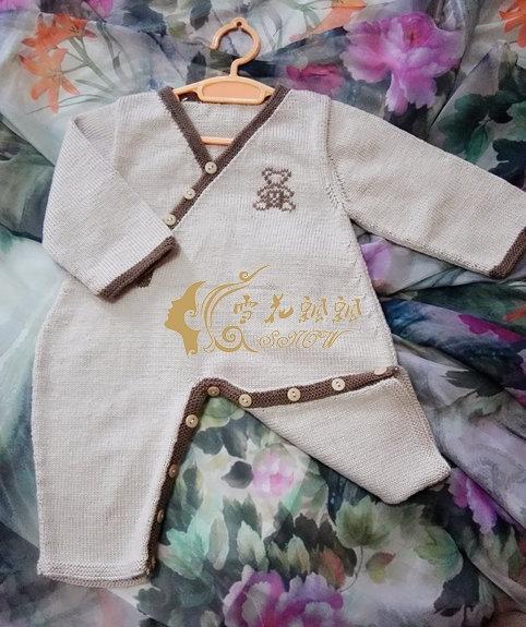 小萌熊--婴儿斜襟连体衣 - ysp1966 - 快乐心情的博客