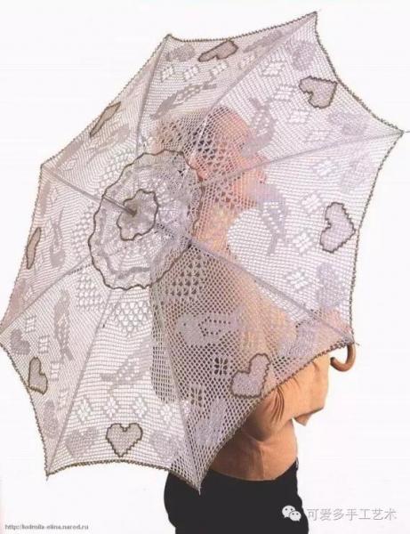 清凉的钩针蕾丝遮阳伞,谁用谁好看!(附10种图解教程) - 格格 - 格格的博客