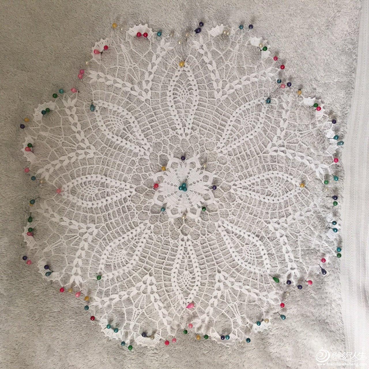 钩针编织蕾丝桌巾蕾丝画