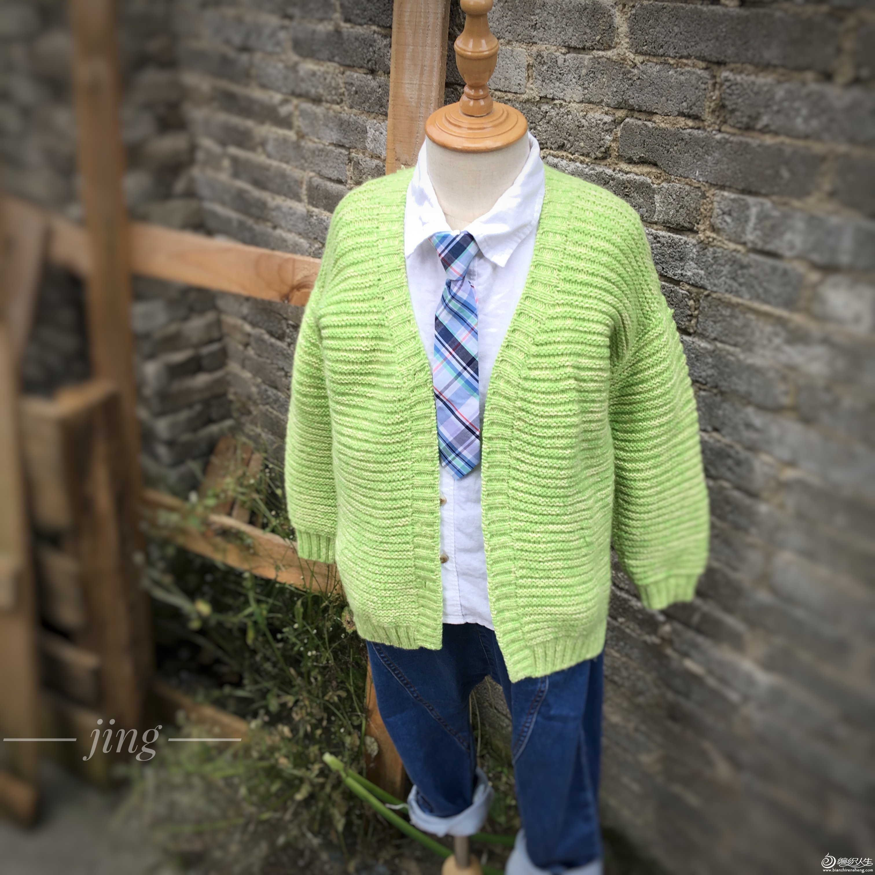 棒针男孩毛衣