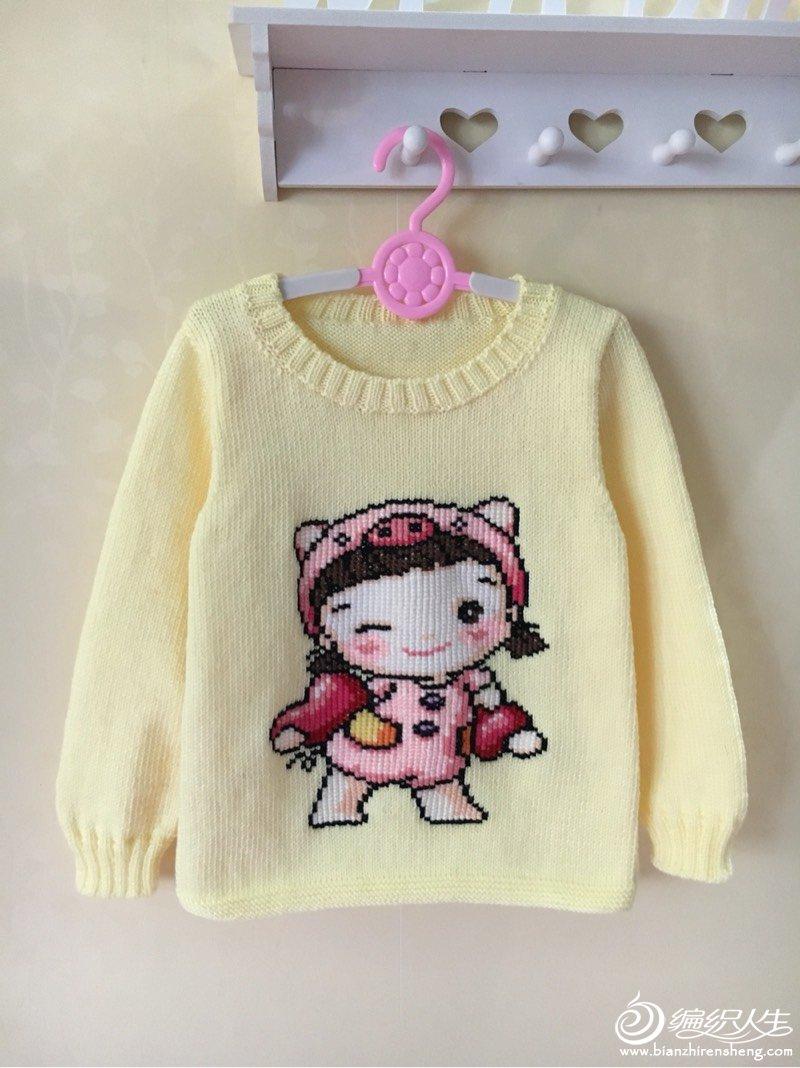 多款男女宝宝都可以穿卡通图案套头毛衣(附毛衣绣图方法)