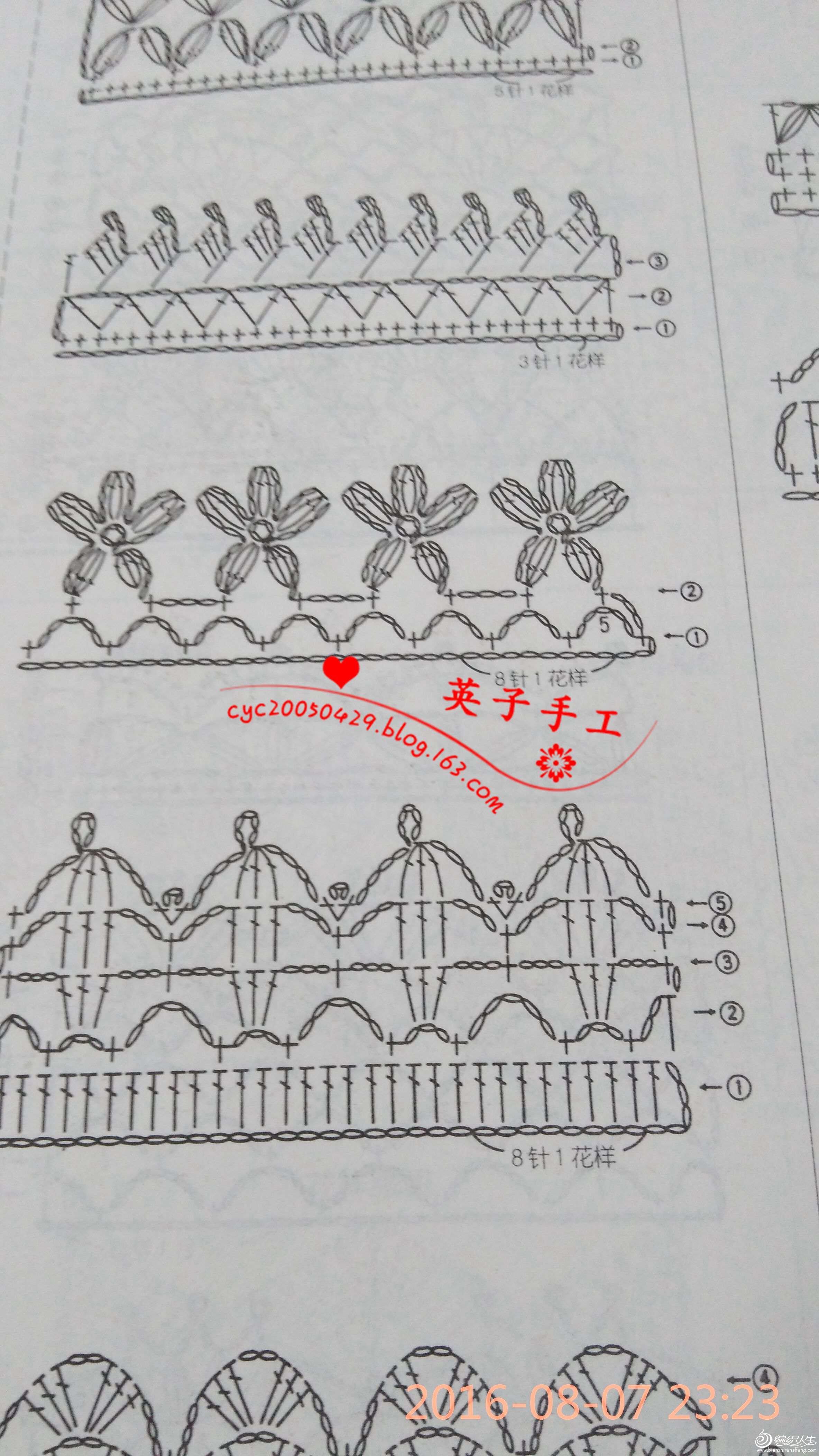 条纹毯子及钩织花边图解