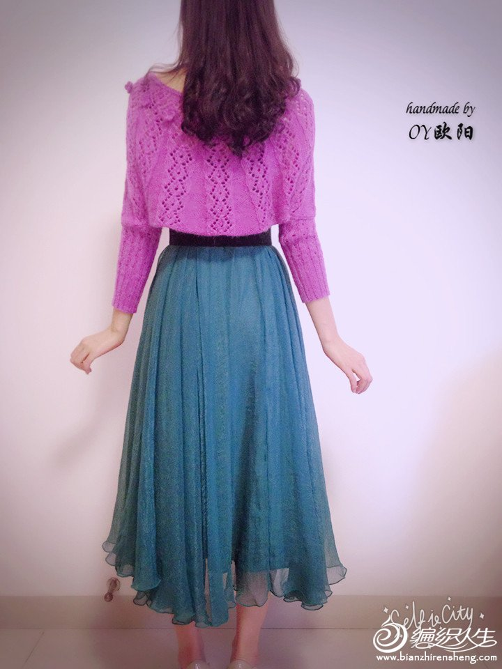女士棒针蕾丝毛衣