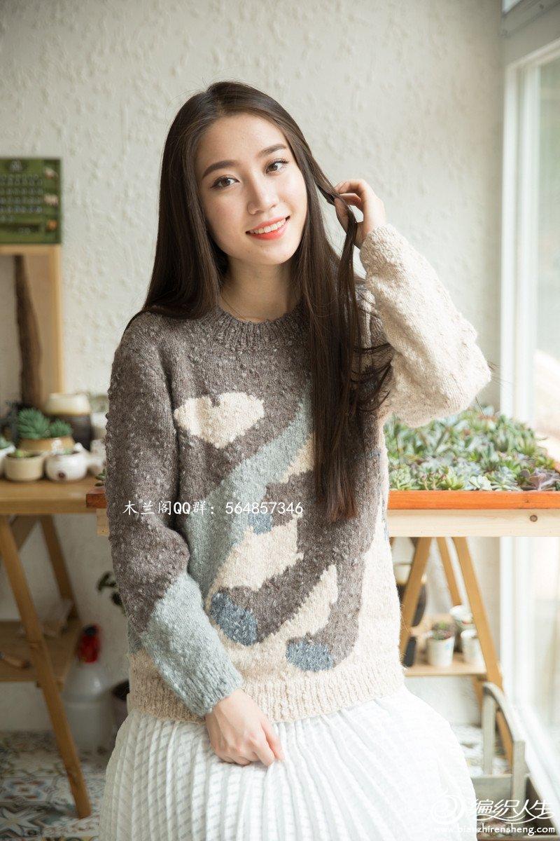 可爱的小熊衣-超级适合亲子装的一款套头衫-可用绒绒线织