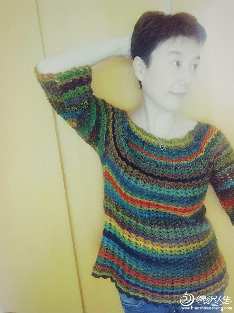[套头衫] 从上往下钩的……很喜欢哦 - yn595959 - yn595959 彦妮