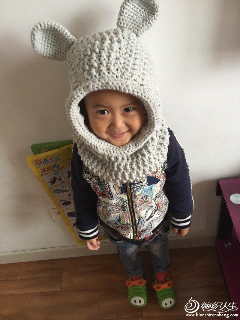 儿童钩针围脖帽子