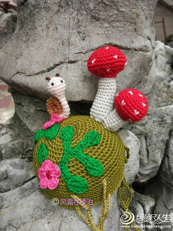 钩针蘑菇针插