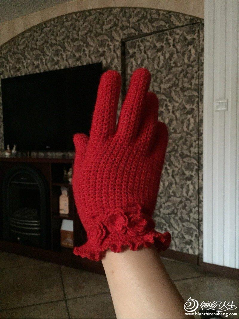 女士钩针手套