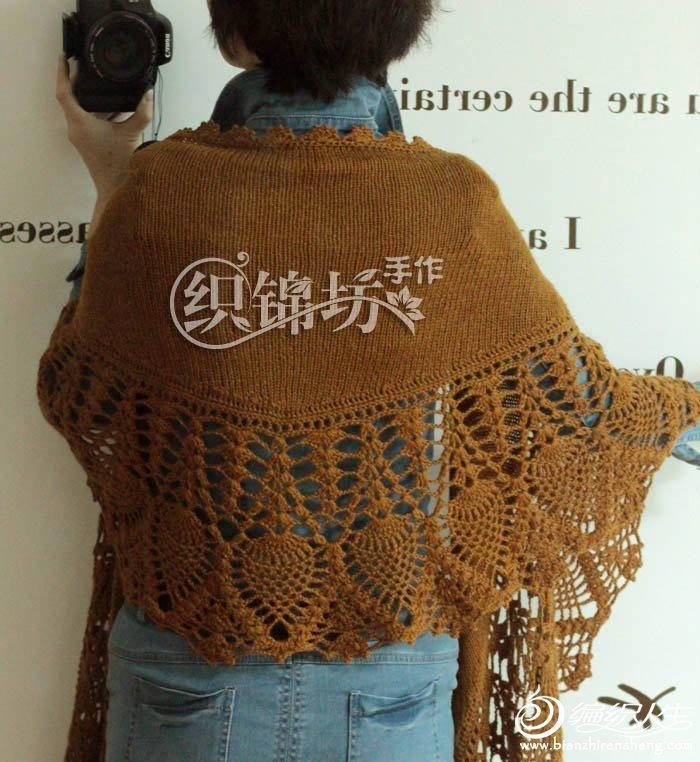 经典云月萝钩织结合女士披肩图解教程