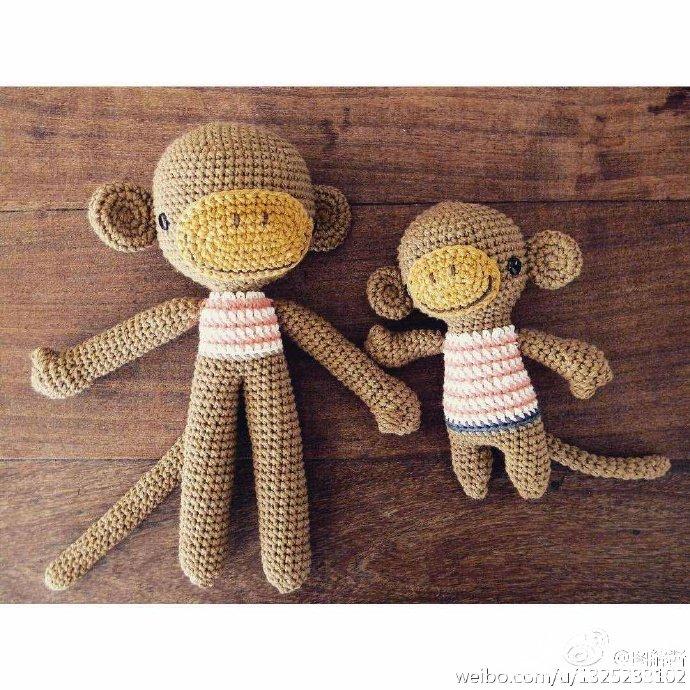 毛线钩编小猴玩偶