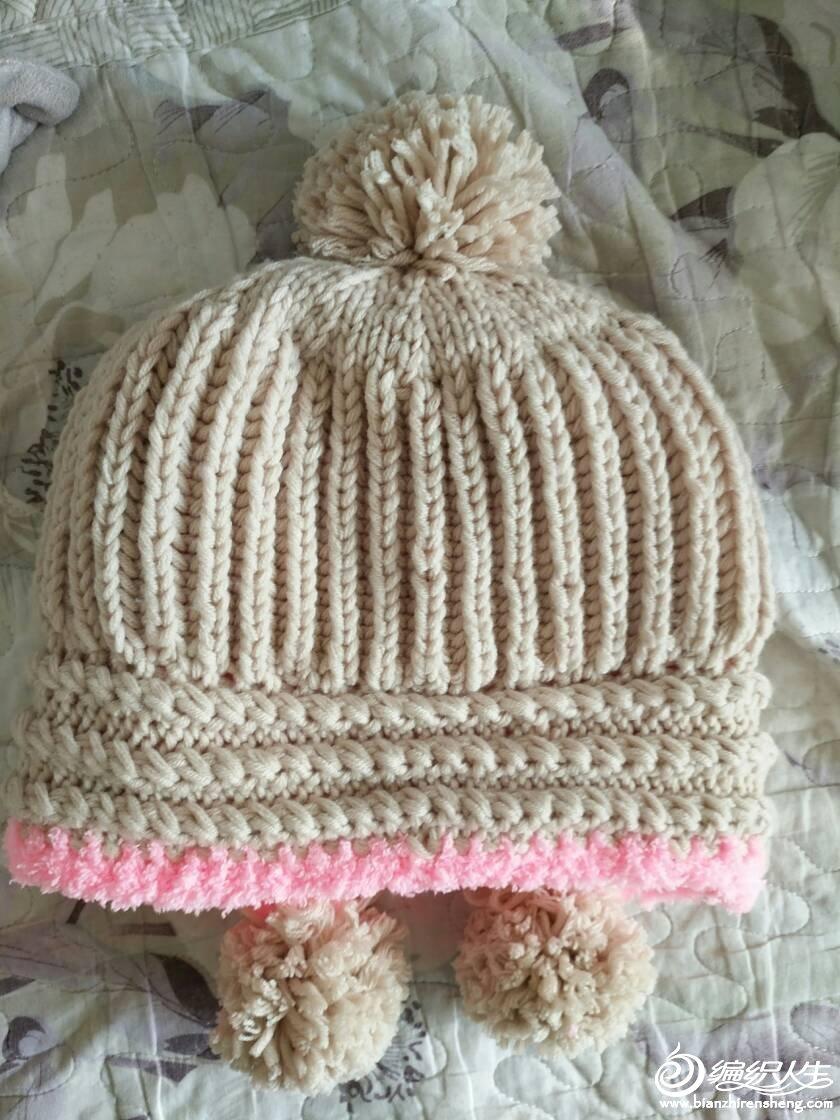 毛线编织韩版帽子