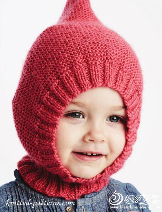 棒针宝宝精灵帽