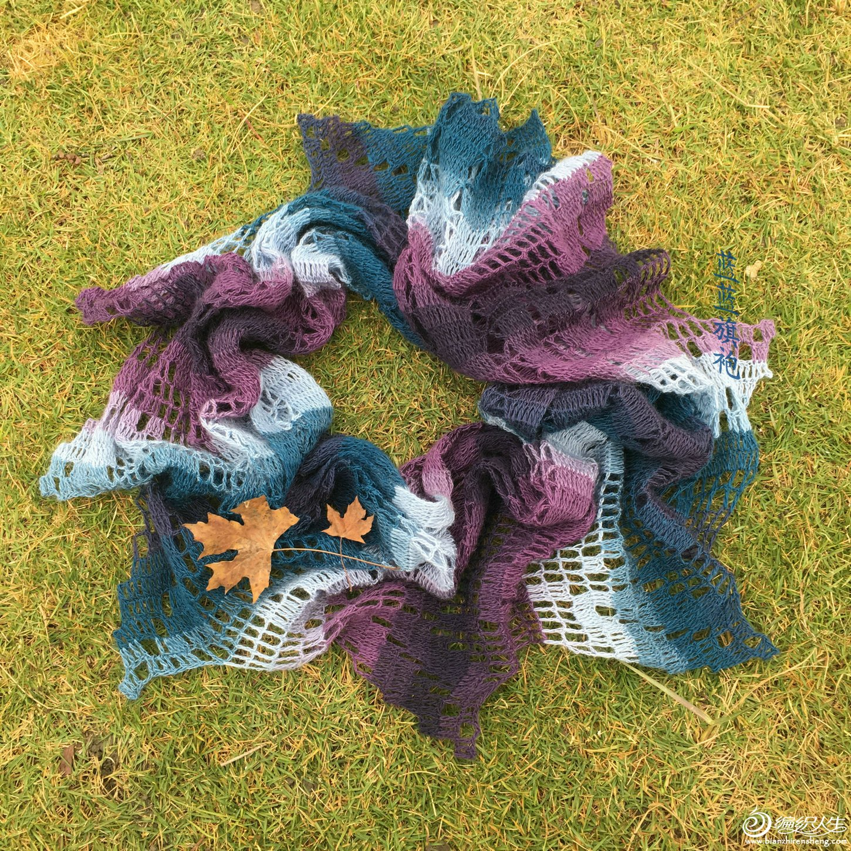 毛蕾丝钩针围巾