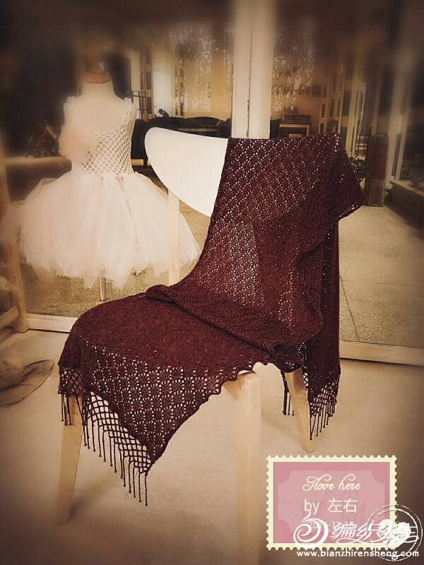 家用编织机机织流苏围巾