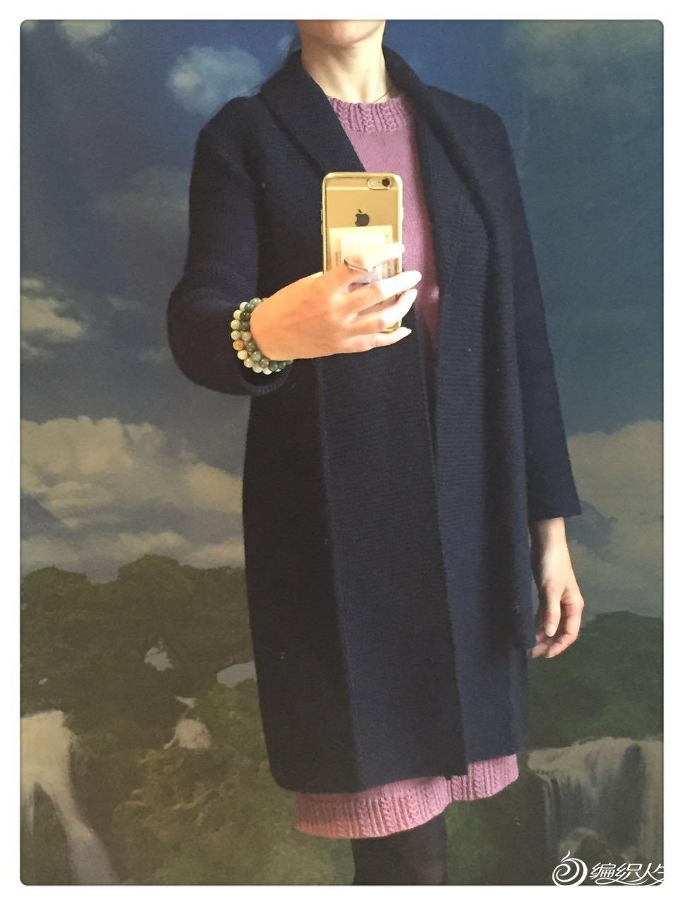 棒针女士大衣