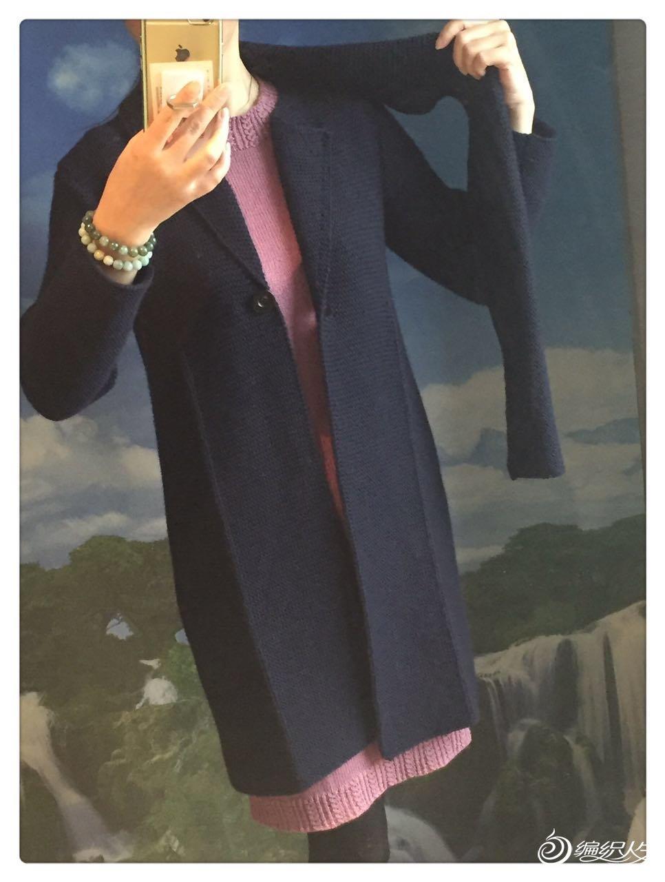 连围巾大衣