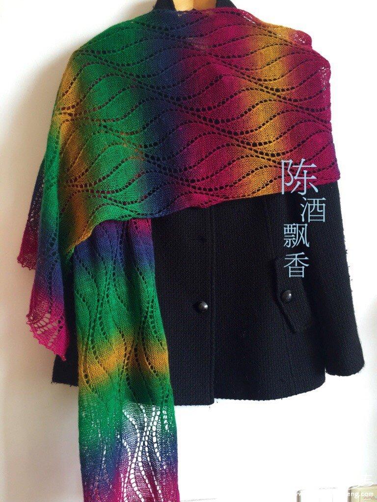 棒针女士长围巾